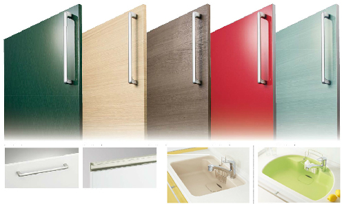 トクラスBbの扉カラーやシンクの形状は選び放題!あなたの色に合ったキッチンに出来ます